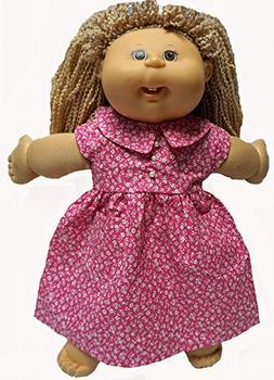 Pink Pearl Accent Dress Fits Cabbage Patch Kid And 18 Inch G