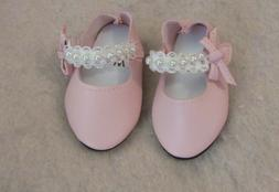 Pink Pearl Shoes fit American Girl Doll 18 Inch Clothes Sell