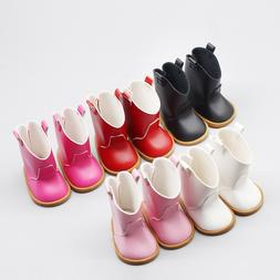 Pink Red shiny Boots <font><b>Shoes</b></font> for 43cm Baby