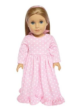 My Brittany's Pink Star Nightgown For American Girl Dolls wi