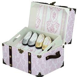 Pink Steamer Accessory Trunk for 18 Inch American Girl Doll