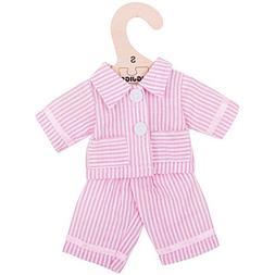 "Bigjigs Toys Pink Striped Rag Doll Pajamas for 11"" Bigjigs T"