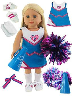 cfce3d4c0889 Hot Pink and Teal Cheerleading Outfit Cheerleader Uniform wi