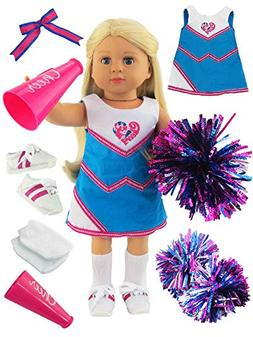 Hot Pink and Teal Cheerleading Outfit Cheerleader Uniform wi