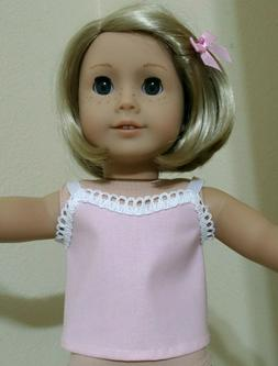 PINK TOP Fits 18 inch American Girl Doll Clothes  DRESS $6 S