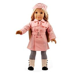 Ebuddy Pink Color Trench Coat 4pcs Set Include Hat Cloak Soc