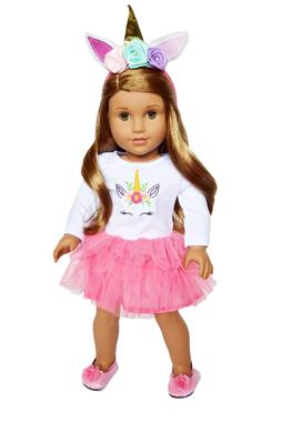 pink unicorn doll outfit fits 18 inch