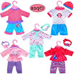 "5-Pack Playtime Outfits for 11""-12""-13"" Dolls  Like 11-inch"