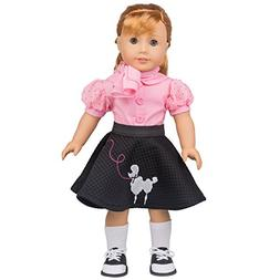 Dress Along Dolly Poodle Skirt Outfit for American Girl Doll