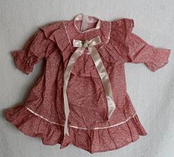 Porcelain Doll Cloth,Cotton & Satub Bow Dress Collar W. 8 cm
