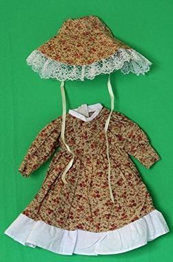 Porcelain Doll Coton Dress Collar W. 7 cm, Shoulder W. 9 cm,
