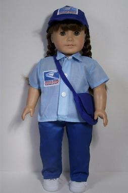 POSTAL Mailman USPS Work Costume Uniform Doll Clothes For 18