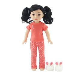 14 Inch Doll Clothes/Clothing | Pretty Coral Pajamas PJs Out