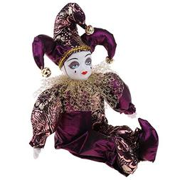 Fityle 30cm Pretty Italian Porcelain Triangel Doll in Purple
