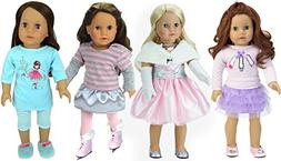 Pretty Pink Doll Dress Up Set by Sophia's with 13 Pieces