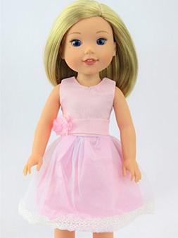 Pretty Pink Dress -Fits 14 Inch Wellie Wisher Dolls | 14 Inc