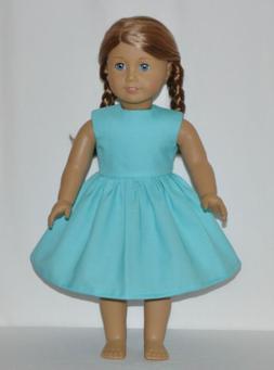 Pretty Powder Blue Doll Dress Clothes Fits American Girl Dol