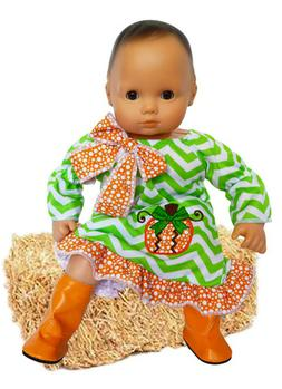 Pretty Pumpkin Outfit for Bitty Baby Bitty Twin Dolls 15 Inc