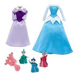 Disney Princess Aurora Doll Wardrobe and Friends Set -- 6-Pc