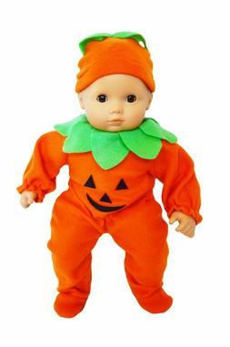 Pumpkin Costume for Bitty Baby Bitty Twin Dolls 15 Inch Doll