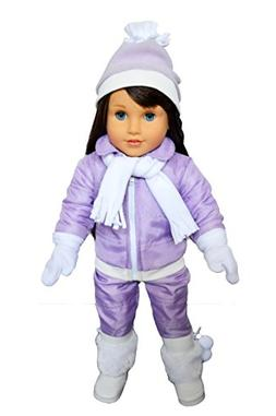 My Brittany's Purple Snowsuit for American Girl Dolls- 18 in