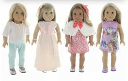 PZAS Toys Holiday Doll Outift Package Of 4, Bonus Set Of Clo