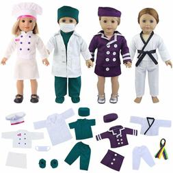 Zita Element Quality 19 Pcs Clothes Outfits For 18 Inch Girl