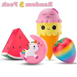 R ? HORSE Kawaii Jumbo Unicorn Squishy Ice Cream Slow Rising