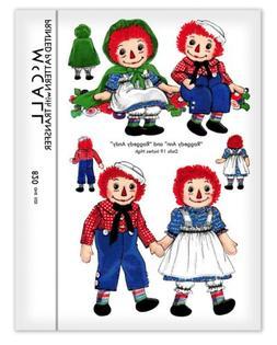 Raggedy Ann & Andy Rag Doll + Clothes Cape Dress Cloth Sewin