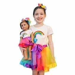 ZITA ELEMENT Rainbow Clothes and Hair 7-9 years Girl Matchin