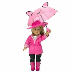 Dress Along Dolly Rainy Day Outfit Set For American Girl and