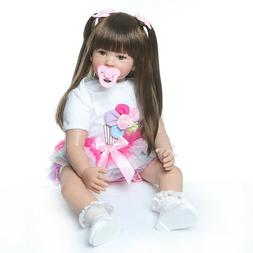 Real life 24inch Toddler Reborn  Dolls Cute Silicone Lifelik