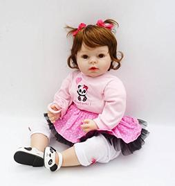 Real Looking Reborn Baby Dolls Girls Fibre Hair 20 inch Todd