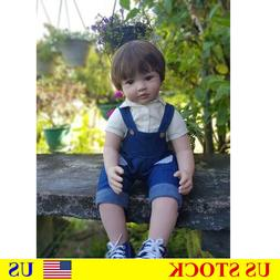 """Realistic 24"""" Vinyl Toddler Baby Doll Boy and Girl Growth Pa"""