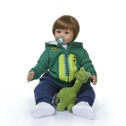 "Realistic Reborn Baby Dolls 24"" Alive Toddler Boy Doll Soft"
