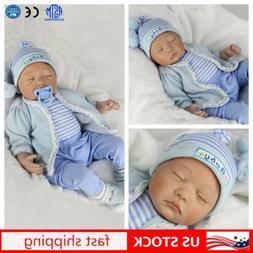 22''Reborn Newborn Dolls Realistic Vinyl Silicone Baby Boy D