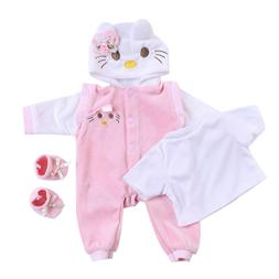 Reborn Baby Doll Clothes for 20 Inch - Pink Cat Outfit Costu