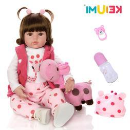 Reborn Baby Doll Toy Cloth Body Stuffed Realistic Baby Doll
