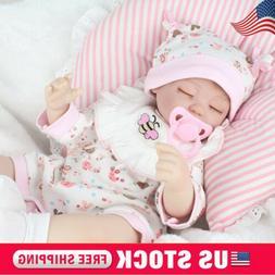 "Reborn Baby Dolls Lifelike Newborn Artist Handmade 16"" Sleep"