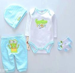 NPK Reborn Doll boy Baby Clothing Light Blue Outfit Sets Reb