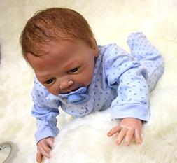 "HOOMAI 18"" 45CM reborn baby doll boys soft silicone vinyl re"
