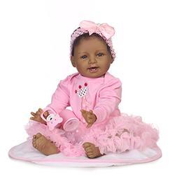 Reborn Baby Dolls Girl Black Skin African American Baby Newb