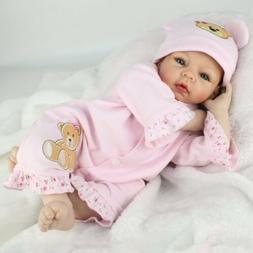 """22"""" Reborn Baby Dolls Vinyl Silicone Boy Doll Lifelike Newbo"""
