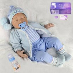 Reborn Newborn Dolls 22''Lifelike Vinyl Silicone Baby Boy Do