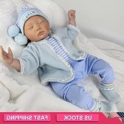 Reborn Newborn Dolls 22''Realistic Vinyl Silicone Baby Boy D