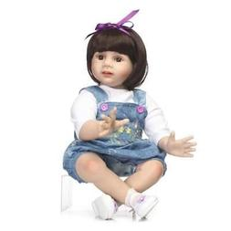 Reborn Toddler Doll 24 inch 60cm Baby Girl Toddler Clothes M
