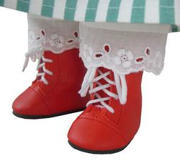 "Doll Clothes fits 18"" American Girl Red 1800 Steeple Boots A"