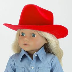 Red Cowgirl Doll Hat for the 18 Inch Horse Riding American G