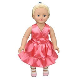 Shero 12 - 16 Inches Red Dress Doll's Clothes Fits American