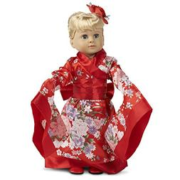"""Red Kimono 18"""" Doll Costume"""